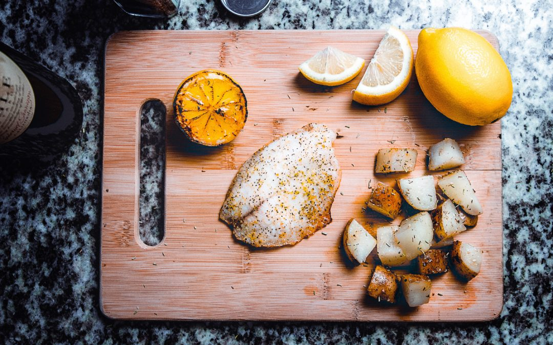 Charred Lemons to serve with Trout Dishes